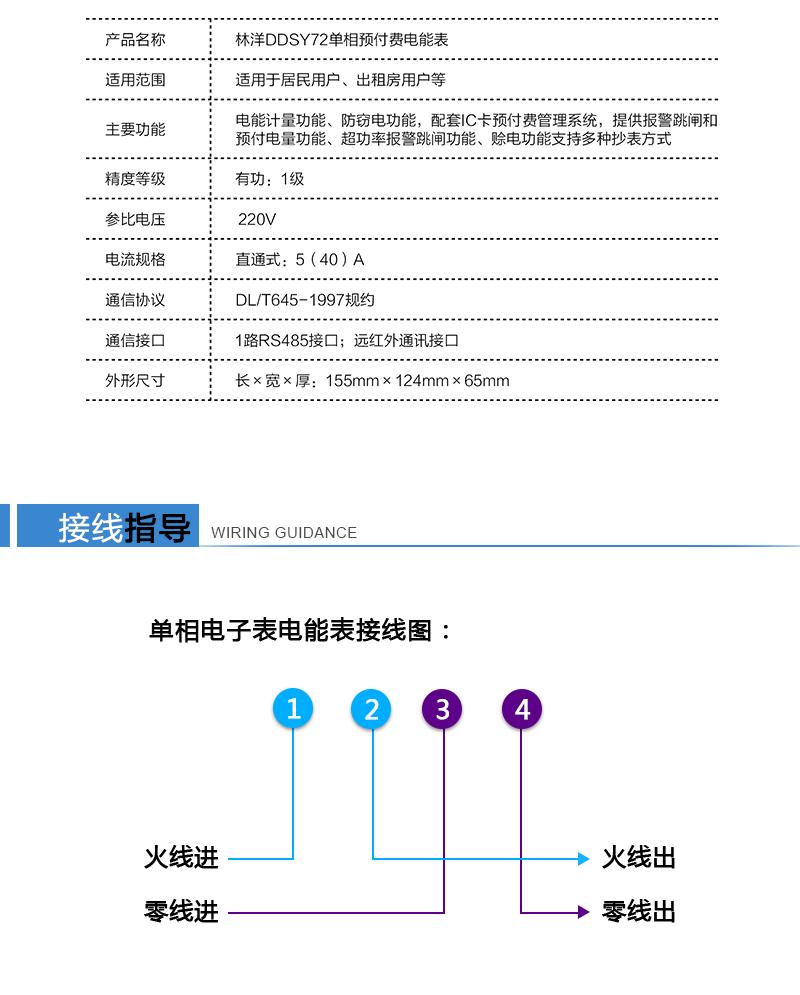 江苏林洋DDSY72单相预付费电能表