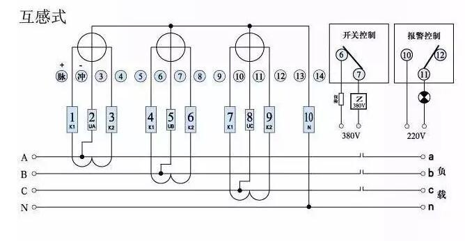 三相三线电表接线图及接线正误判别方法