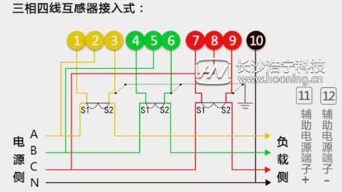 普通三相电表接线图