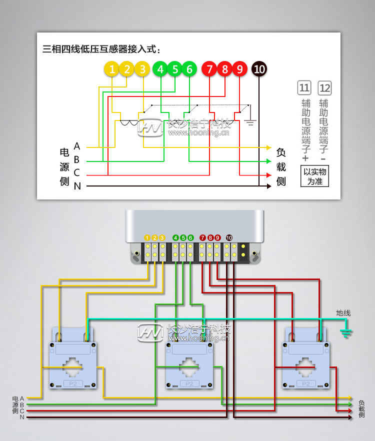 三相四线电表接线图带互感器